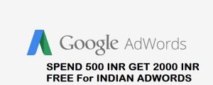 Google Adwords Coupon For India Spend 500 INR Get 2000 INR