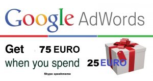 Google Adwords Coupon Ireland 75 EURO