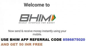 BHIM App Referral Code 8586875020