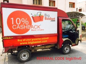 Bigbasket Referral Code bigb1lrv0 – Earn 100 INR for each Sign Up