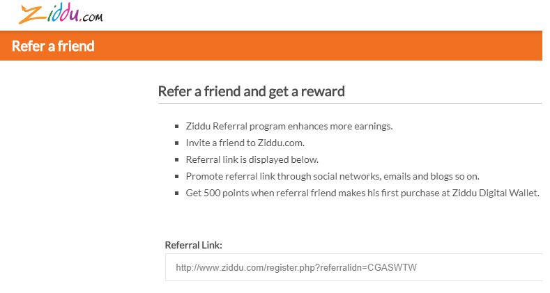 Ziddu Wallet Referral Code