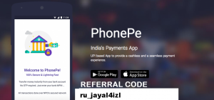 PhonePe Referral Code ru_dhar4qisi Get 100 INR each time you refer