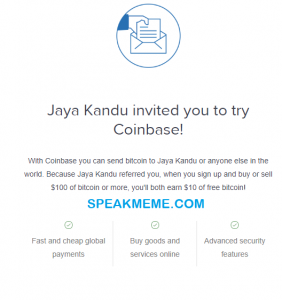 Coinbase Referral Code – Get 10 USD Free Bitcoin Now