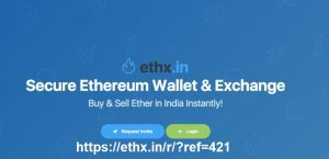 Ethx Referral Code- Get 700 INR Free Ether Coin