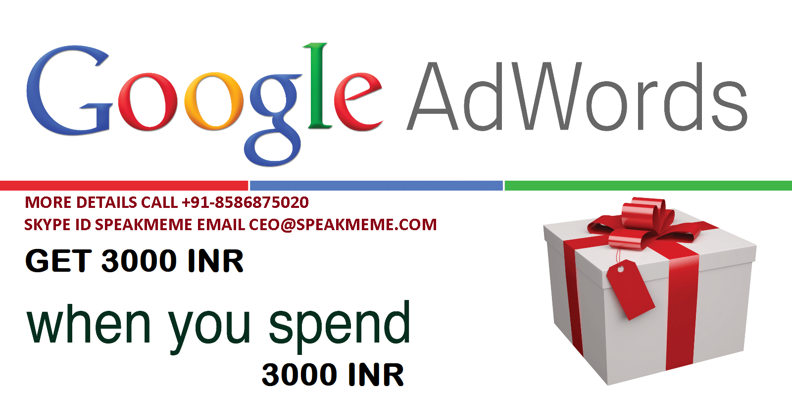 Adwords Coupon 3000 INR - Buy Adwords Coupon 3000 INR - Voucher Ad