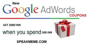 New Google Adwords Coupon For India Year 2019 [Spend 500 INR get 2000 INR]