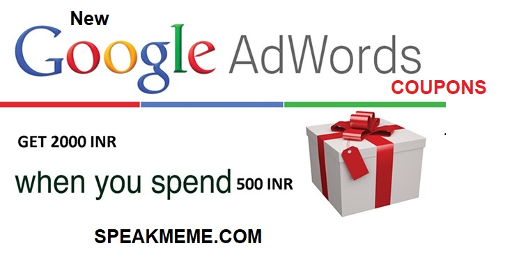 Google Adwords Coupon For India - Adwords Voucher Spend 500 Get 2k
