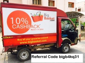 Bigbasket Referral Code bigb4kq31 – Earn 100 INR for each Sign Up