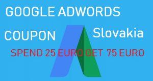 Google Adwords Coupon Slovakia 2019