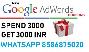 Google Adwords Coupon For India Year 2019 [Spend 3000 INR get 3000 INR]