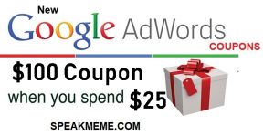 Google Adwords Coupon USA (United States) $100